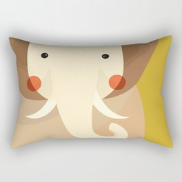 Elephant, Animal Portrait Rectangular Pillow