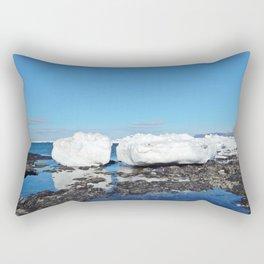 Icebergs along the Tidal shelf Rectangular Pillow