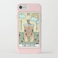 iPhone Cases featuring COFFEE READING by Sagepizza