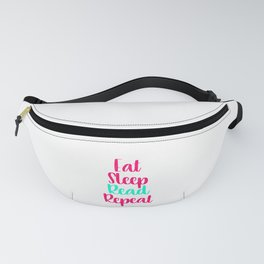 Eat Sleep Read School Library Quote Fanny Pack