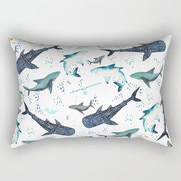 floral shark pattern Rectangular Pillow