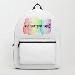 love who you want Backpack