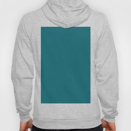 Clear Day Ocean Blue Solid Colour Palette Matte Hoody