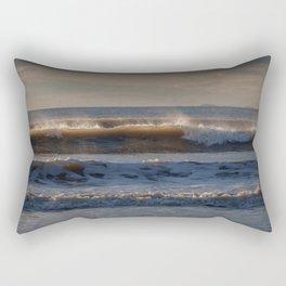Surf at Rhossili Bay Rectangular Pillow