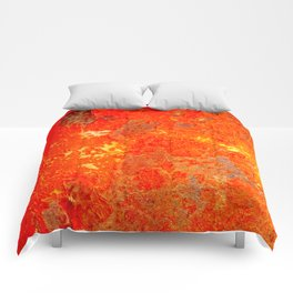 Aftermath Orange Comforters