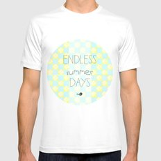 Endless Summer Days White Mens Fitted Tee MEDIUM