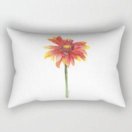 Indian Blanket Wildflower Watercolor Rectangular Pillow