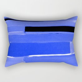 Indigo Monochromatic with Lavender Tones Rectangular Pillow