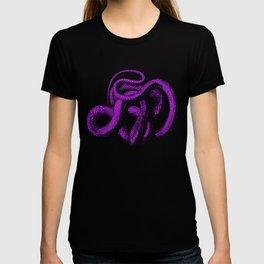 Snek 4 Snake Purple Blue T-shirt