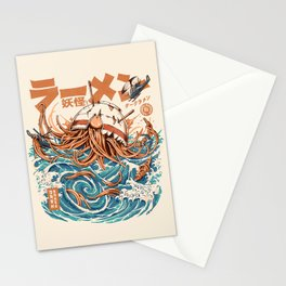 Dark Great Ramen off Kanagawa Stationery Cards