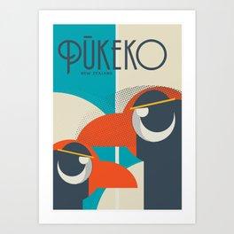 Pukeko Bird New Zealand Art Print