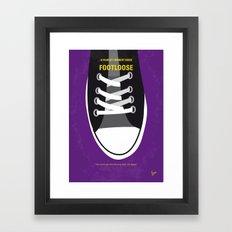 No610 My Footloose minimal movie poster Framed Art Print