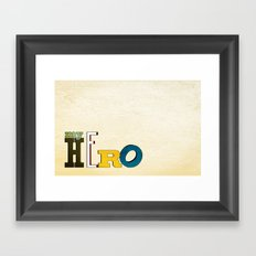 myHERO Framed Art Print
