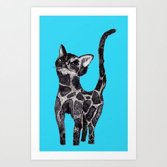 Giraffe Cat 2. Art Print