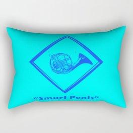 """""""Smurf Penis"""" Rectangular Pillow"""
