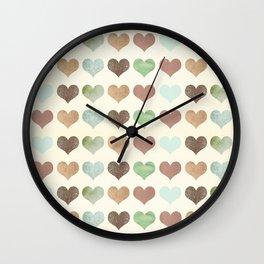 DG HEARTS - RUSTIC Wall Clock