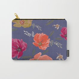 Watercolor peonies Mandarine, wine, golden colors Carry-All Pouch