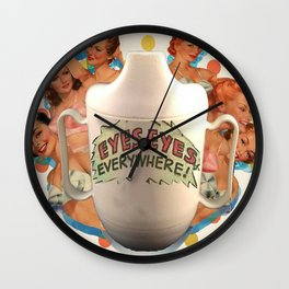 Mrs. Sippy Cup Show Poster Wall Clock