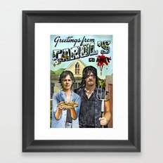 Greetings from Carol's Framed Art Print