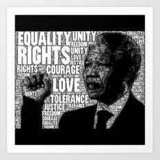 Mandela tribute Art Print