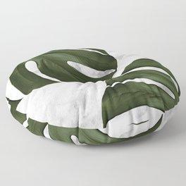 Marble Monstera Floor Pillow