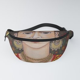 Frida with butterflies Fanny Pack
