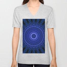 Dark blue mandala Unisex V-Neck