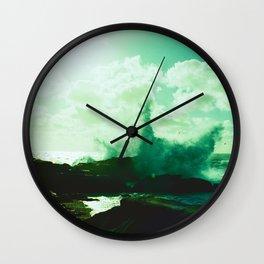 Pebble Beach Waves // California Wall Clock