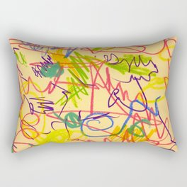 squiggletown twombly Rectangular Pillow