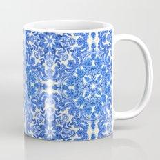 Cobalt Blue & China White Folk Art Pattern Mug