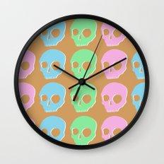 pastel skull Wall Clock