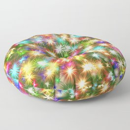 Star colorful christmas abstract Floor Pillow