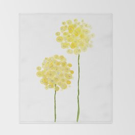 two abstract dandelions watercolor Throw Blanket