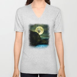 The Moon and the Tree. Unisex V-Neck