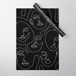 Faces in Dark Wrapping Paper