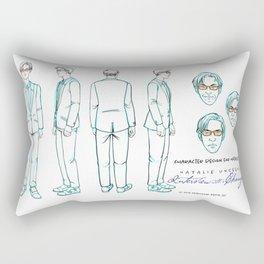 Natalie Close Character Design I Rectangular Pillow