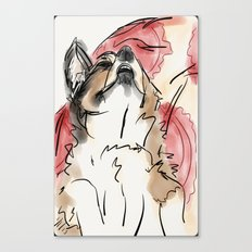 Charles Red Canvas Print