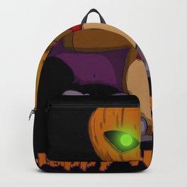 Happy Halloween Pumpkin Bat Costume Backpack