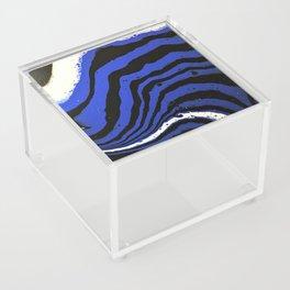 Zebra wears blue. Abstract Acrylic Animal prints Acrylic Box