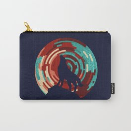 Howling wolf  DJ wall art print Carry-All Pouch