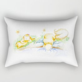 Squirrel Sipping Softly from a Stream Rectangular Pillow