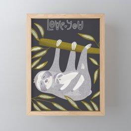 Love you – Sloth Framed Mini Art Print
