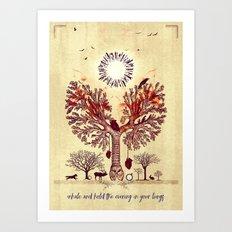 lung trees Art Print