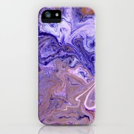 Purple Marble Swirls iPhone Case