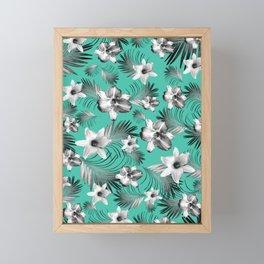 Tropical Flowers Palm Leaves Finesse #5 #tropical #decor #art #society6 Framed Mini Art Print