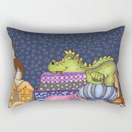 sleeping dino Rectangular Pillow