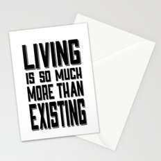 Living & Existing two Stationery Cards