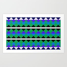 African colorful geometric pattern. Art Print