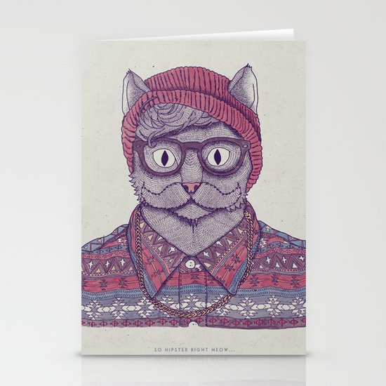 So Hipster Stationery Cards