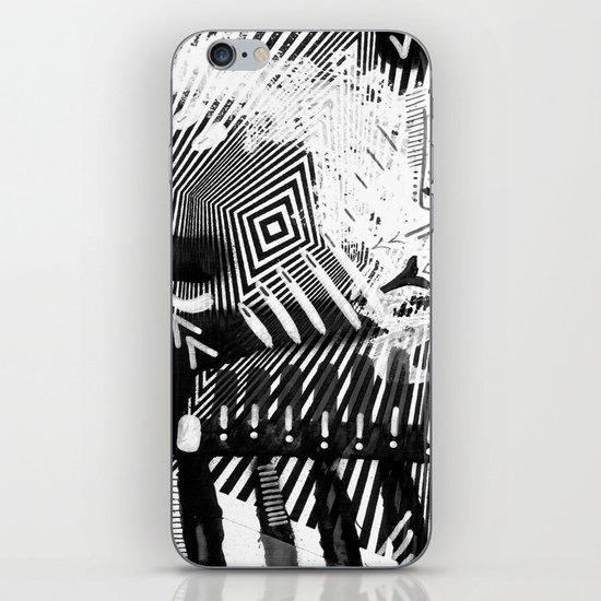 GRAY AND BLACK iPhone & iPod Skin